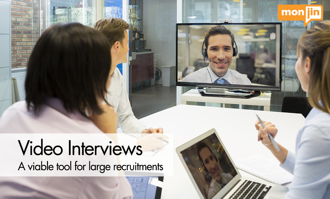 video interview for large recruitment